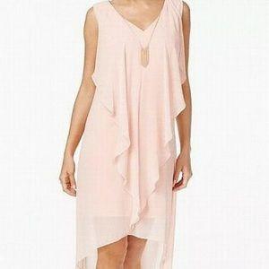 New Thalia Sodi Pink Chiffon Dress Medium Macy's